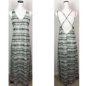 Criss Cross Open back maxi Flowy dress